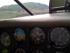 flying up the valley at 200\' with the hillside above